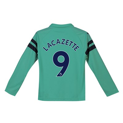 ddced63a Arsenal Third Shirt 2018-19 – Kids – Long Sleeve with Lacazette 9 printing