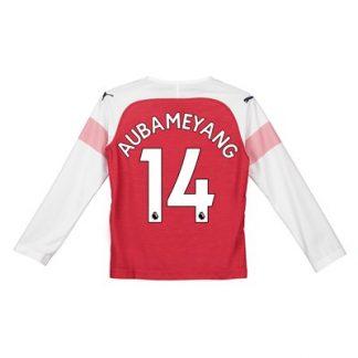 Arsenal Home Shirt 2018-19 - Kids - Long Sleeve with Aubameyang 14 printing