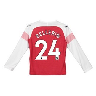 Arsenal Home Shirt 2018-19 - Kids - Long Sleeve with Bellerin 24 printing
