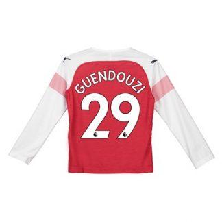 Arsenal Home Shirt 2018-19 - Kids - Long Sleeve with Guendouzi 29 printing