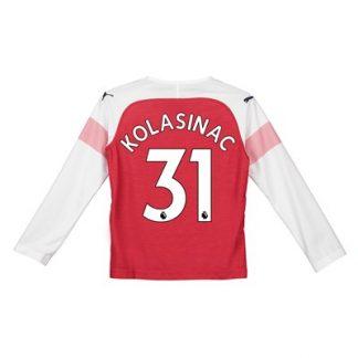 Arsenal Home Shirt 2018-19 - Kids - Long Sleeve with Kolasinac 31 printing