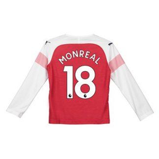 Arsenal Home Shirt 2018-19 - Kids - Long Sleeve with Monreal 18 printing