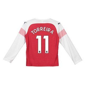Arsenal Home Shirt 2018-19 - Kids - Long Sleeve with Torreira 11 printing