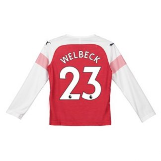 Arsenal Home Shirt 2018-19 - Kids - Long Sleeve with Welbeck 23 printing