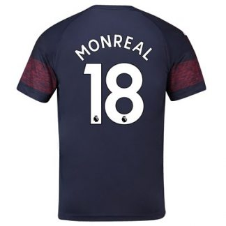 Arsenal Away Shirt 2018-19 - Outsize with Monreal 18 printing