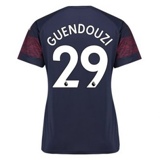 Arsenal Away Shirt 2018-19 - Womens with Guendouzi 29 printing