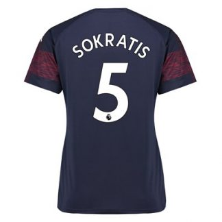 Arsenal Away Shirt 2018-19 - Womens with Sokratis 5 printing