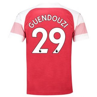 Arsenal Home Shirt 2018-19 - Outsize with Guendouzi 29 printing