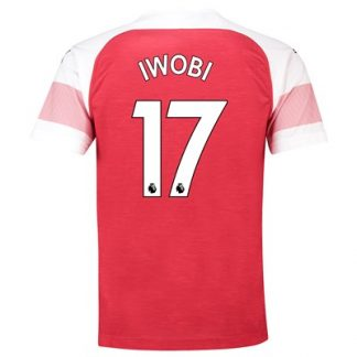 Arsenal Home Shirt 2018-19 - Outsize with Iwobi 17 printing