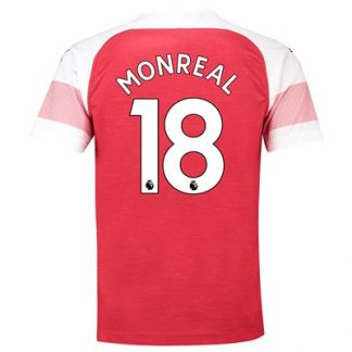 Arsenal Home Shirt 2018-19 - Outsize with Monreal 18 printing