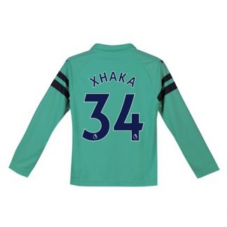 Arsenal Third Shirt 2018-19 - Kids - Long Sleeve with Xhaka 34 printing