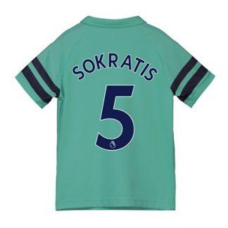 Arsenal Third Shirt 2018-19 - Kids with Sokratis 5 printing