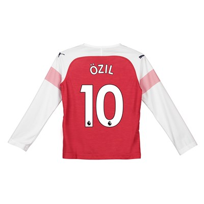 cheaper 497fe 21ef0 Arsenal Home Shirt 2018-19 - Kids - Long Sleeve with Özil 10 printing
