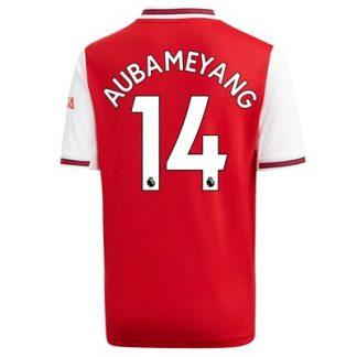Arsenal Home Shirt 2019-20 - Kids with Aubameyang 14 printing
