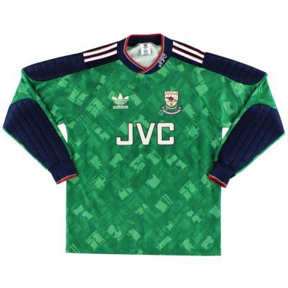1990-91 Arsenal 'Champions' Goalkeeper Shirt M