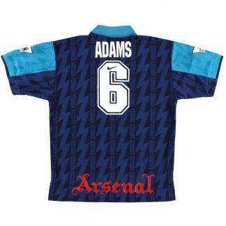 1994-95 Arsenal Away Shirt Adams #6 L