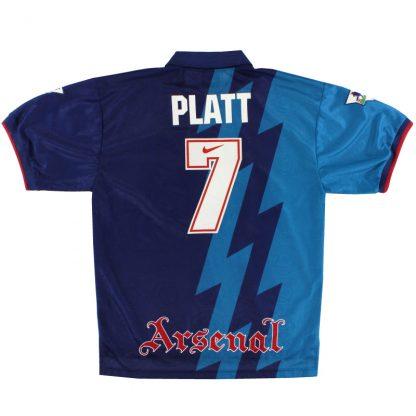 1995-96 Arsenal Away Shirt Platt #7 XL