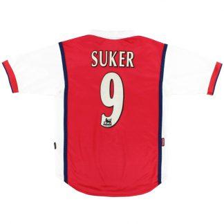 1999-00 Arsenal Home Shirt Suker #9 S