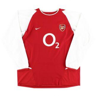 2002-04 Arsenal Home Shirt L/S XXL