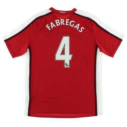 2008-10 Arsenal Home Shirt Fabregas #4 XL.Boys