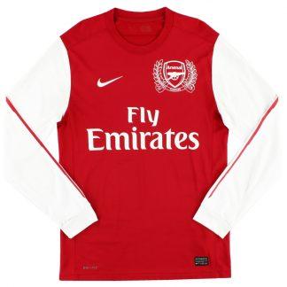2011-12 Arsenal '125th Anniversary' Home Shirt L/S S