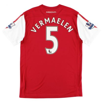 2011-12 Arsenal Home Shirt Vermaelen #5 M