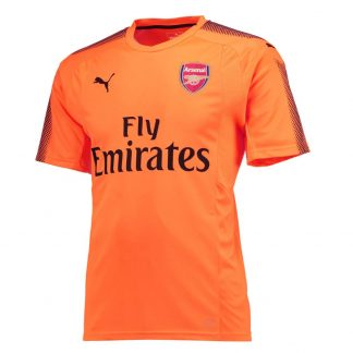 2017-2018 Arsenal Puma Away SS Goalkeeper Shirt (Orange) - Kids