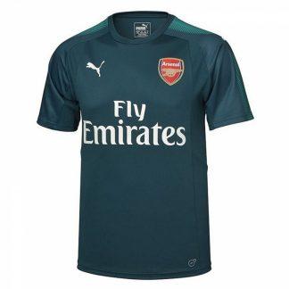 2017-2018 Arsenal Puma Home SS Goalkeeper Shirt (Deep Teal) - Kids