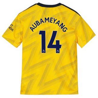 Arsenal Away Shirt 2019-20 - Kids with Aubameyang 14 printing