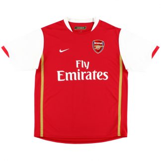 2006-08 Arsenal Nike Home Shirt M