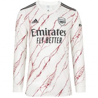Arsenal Adult 20/21 Long Sleeved Away Shirt L, White