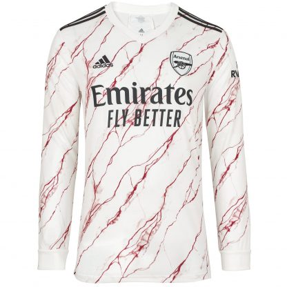 Arsenal Adult 20/21 Long Sleeved Away Shirt L, White