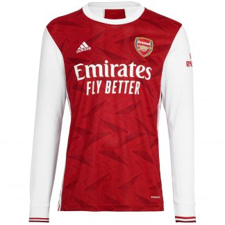 Arsenal Junior 20/21 Long Sleeved Home Shirt 7-8, White