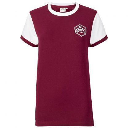 Arsenal Womens Retro 1930s Crest Shirt 10, Red