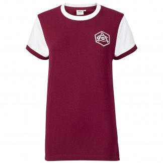 Arsenal Womens Retro 1930s Crest Shirt 8, Red