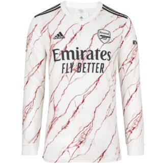 Arsenal Adult 20/21 Long Sleeved Away Shirt 3XL, White