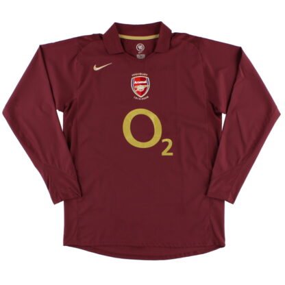 2005-06 Arsenal Nike Highbury Home Shirt L/S S