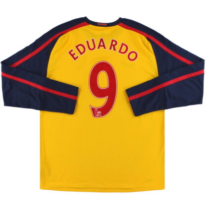 2008-09 Arsenal Nike Away Shirt Eduardo #9 L/S *Mint* XL