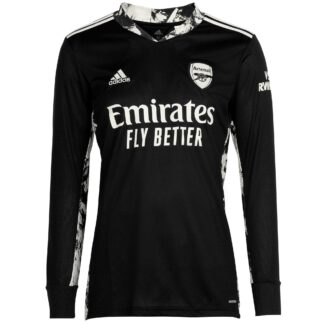 Arsenal Junior 20/21 Goalkeeper Shirt 7-8, Black