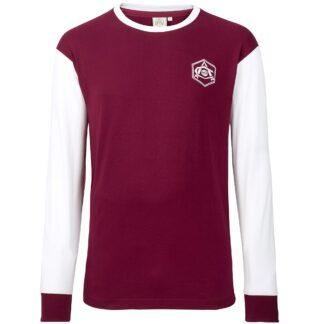 Arsenal Retro 1930s Crest LS T-Shirt M, Red