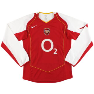 2004-05 Arsenal Nike Home Shirt L/S M