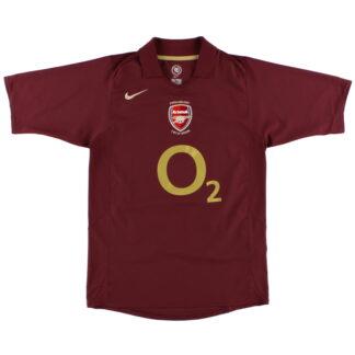 2005-06 Arsenal Nike Commemorative Highbury Home Shirt L