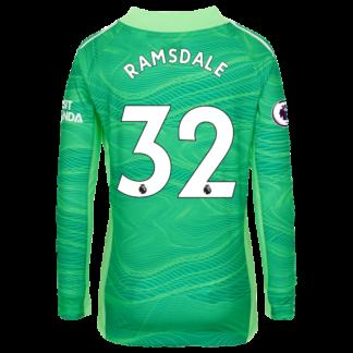 Aaron Ramsdale - Arsenal Junior 21/22 Goalkeeper Shirt 7-8, Green
