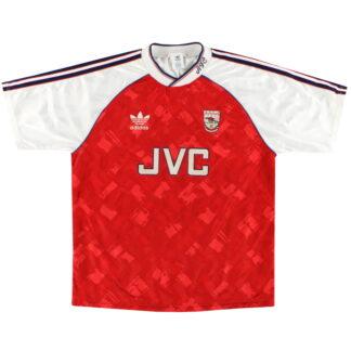 1990-92 Arsenal adidas Home Shirt M