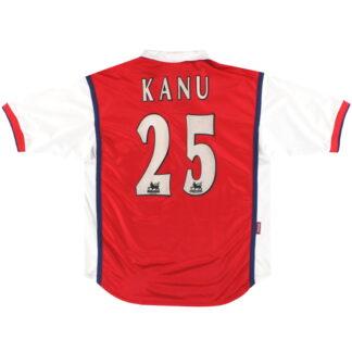 1998-99 Arsenal Nike Home Shirt Kanu #25 L